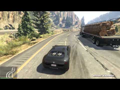 GTA V: Driving 387 kmh (240 mph) with vehicle mod (Realistic Driving mod early development stage)