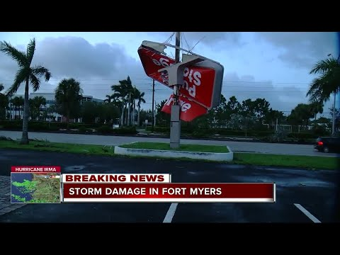 Storm damage in Fort Myers