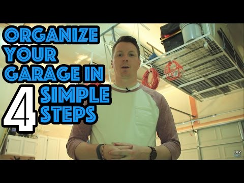 An Organized Garage in 4 Steps, plus Overhead Storage Review
