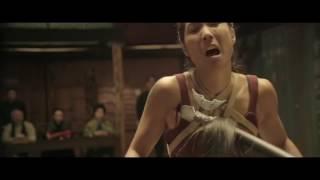Lady Bloodfight Sunny Coelst Nunchaku fight scene