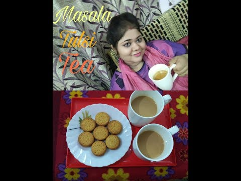 Instant Masala Tulsi Tea - Cutting Chai recipe in Hindi - Indian Tea recipe with milk