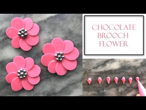 How to Make a Chocolate Brooch Flower | Very Simple & Easy