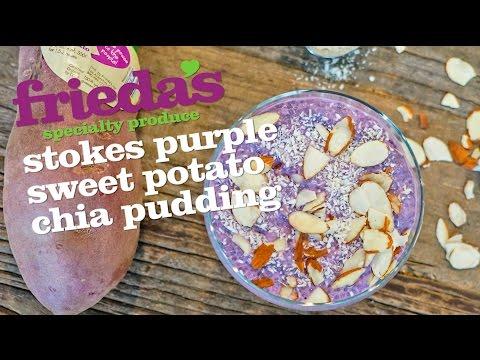 Purple Sweet Potato Chia Pudding
