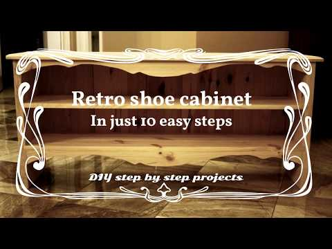 Simple but nice looking shoe cabinet in just 10 steps (short version)