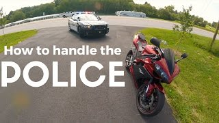 Best cop ever! getting pulled over on a Yamaha R1