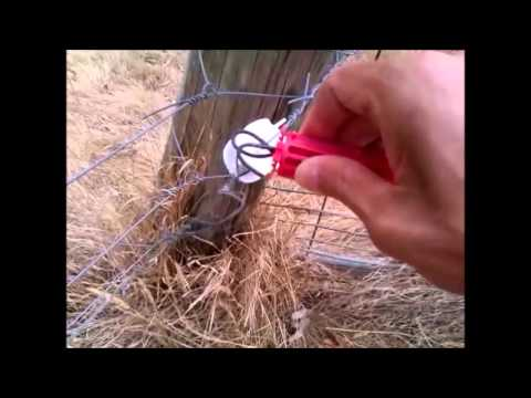 Electric fence gate handle, homemade