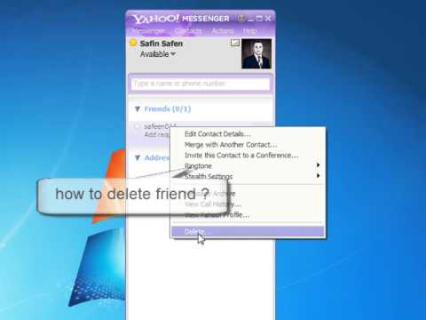 how to add and delete friends of yahoo