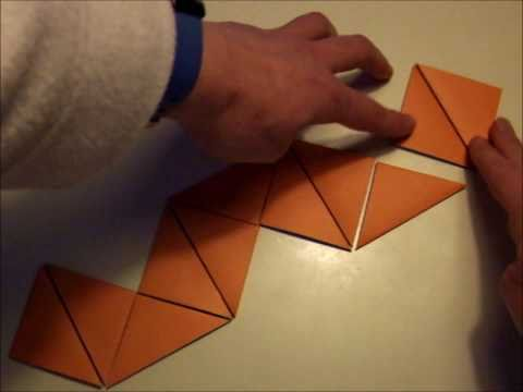 origami - action origami - reversible cube - tutorial - dutchpapergirl