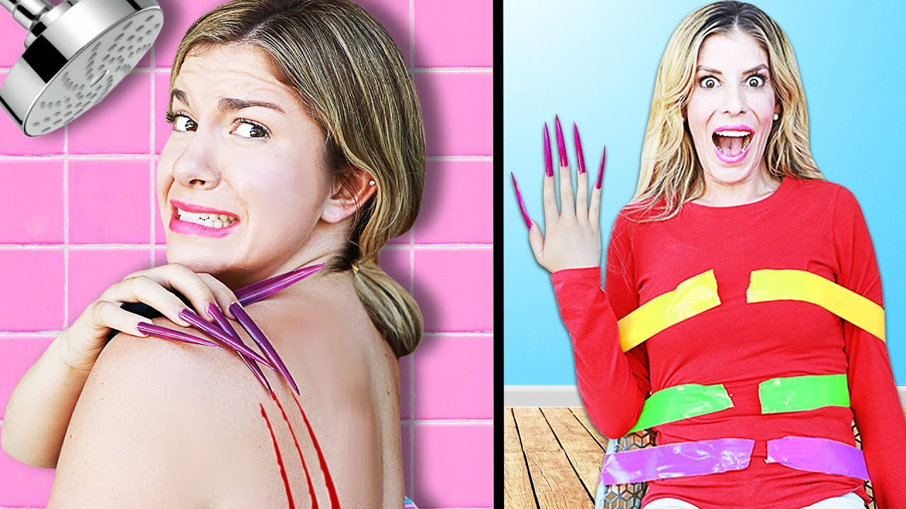 Living With The World's LONGEST Nails For A Day