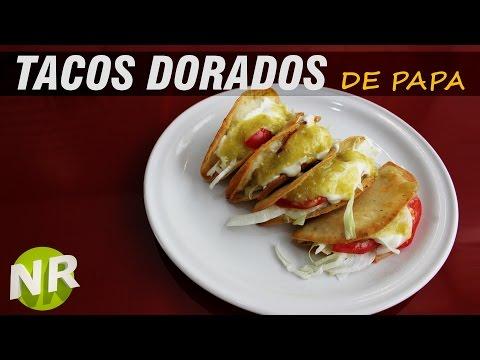 Como Hacer Tacos Dorados de Papa 😎 quesadillas sin queso, León, Guanajuato