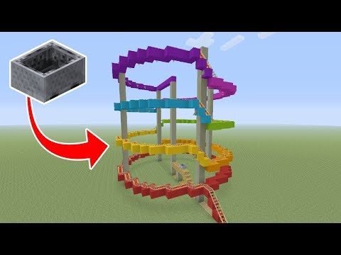 Minecraft Tutorial: How To Make A Roller Coaster