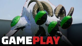 No More Heroes: Travis Strikes Again - Green Sheep Man Boss Gameplay