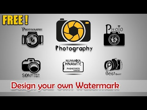How to design your own Watermark for free