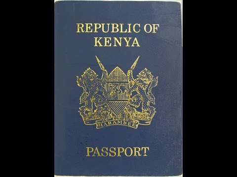 Kenya Immigration: Application for Kenyan Passport online at eCitizen Portal