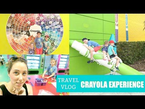 Travel Vlog   Crayola Experience Orlando 2018 Review