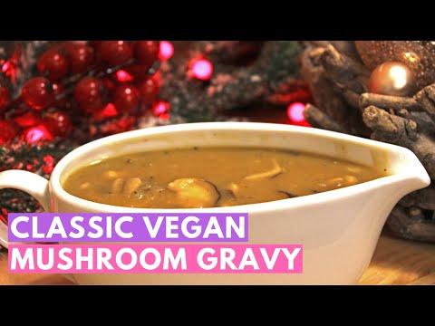 Classic vegan mushroom gravy!