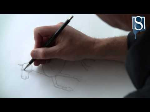 How to Draw a Horse step-by-step by Mark Bergin