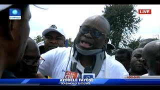 'I Am In Severe Pain' Fayose Breaks Down In Tears At PDP Rally