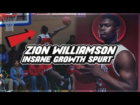 Story Of ZION WILLIAMSON's Insane GROWTH SPURT! From 5'9 To 6'7 In ONE Year!