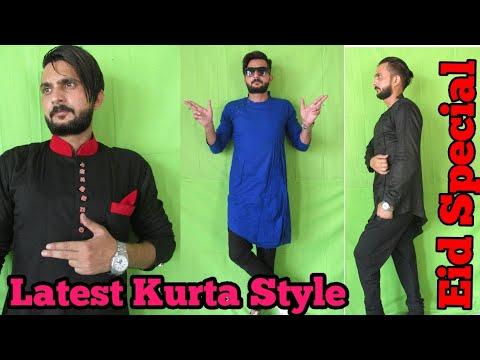 Latest Kurta Design For Eid 2018   Kurta Look for men 2018   Mohd Tabish   Funky Boy