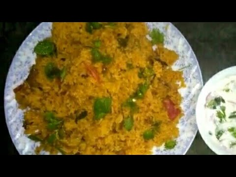 Hyderabadi Tahari recipe in Urdu with English subtitles||तहारि