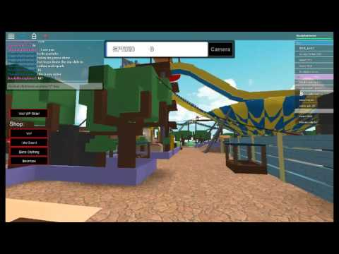 roblox waterpark how to go on vip slide for free