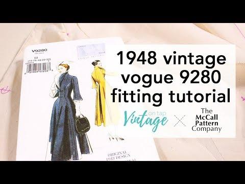 Fitting Vintage Vogue 9280 Tutorial   Vintage on Tap