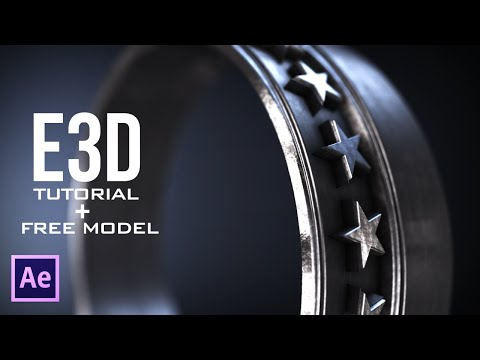 After Effects - Element 3D V2 Tutorial (Easiest Way!) !!!