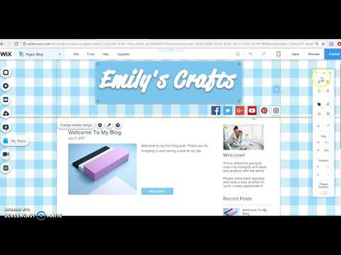 Writing a blog post and adding pictures using Wix