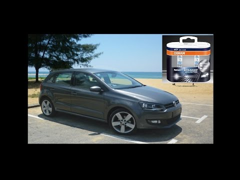 Volkswagen VW Polo 6R Headlight Headlamp Removal and bulb replacement