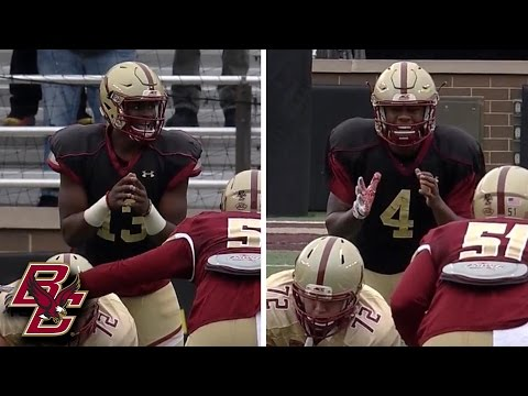 Boston College Spring Football Game: QB Competition