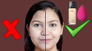 फाउंडेशन कैसे लगाएं| How To Apply Foundation For Full Coverage, Natural Looking Makeup.
