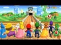 Mario Party 9 - All Characters Goomba Bowling Gameplay