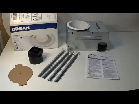 Broan NuTone 744 Recessed Can Light with Fan Combo Review