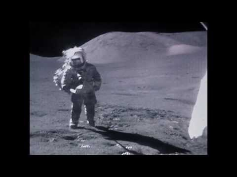 Astronauts tripping on the surface of the Moon HD