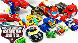 Transformers Rescue Bots Toys Collection Featuring Boulder Heatwave Chase Blades Bumblebee & More