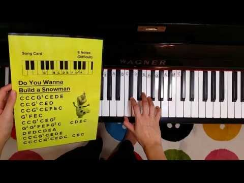 How to play Do You Wanna Build a Snowman on Piano