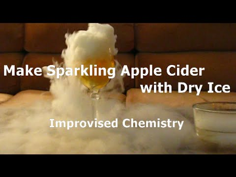 Make Sparkling Apple Cider with Dry Ice! Quick and easy project!