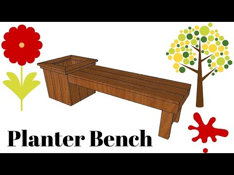 DIY Planter Bench Plans