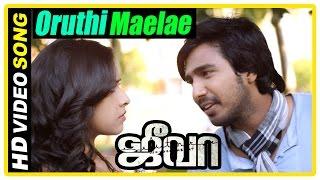 Jeeva Tamil movie | scenes | Vishnu tries to win back Sri Divya | Oruthi Maelae Song | Soori