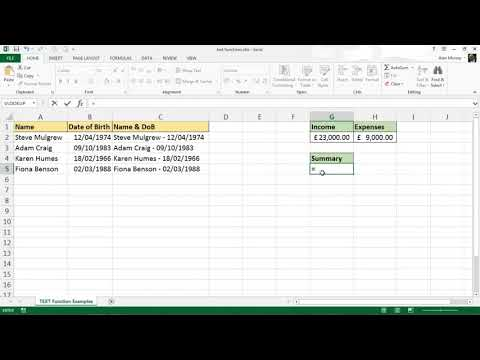 How to use the TEXT Function in Excel
