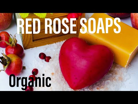 Make Home Made All Natural Soap Bars (Rose Scented & Colored)
