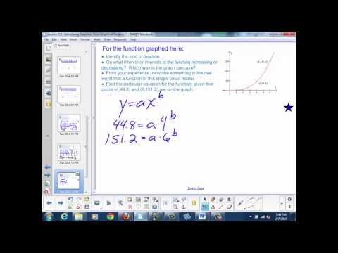 Solving for A Power Function Given 2 Points