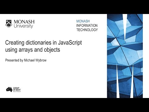 Creating dictionaries in JavaScript using arrays and objects