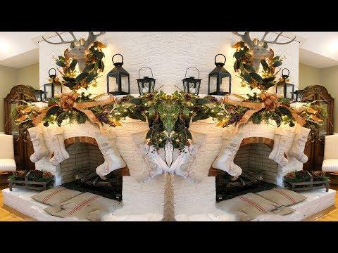 2017 Christmas Mantel Decorations 5