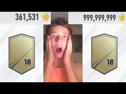 HOW TO GET UNLIMITED COINS ON FUT PACK 18!!!!!