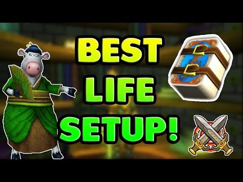 Wizard101 Best Life Gear and Deck Setup!