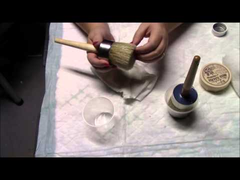 Cleaning your wax brushes Fiddes & Sons supreme wax