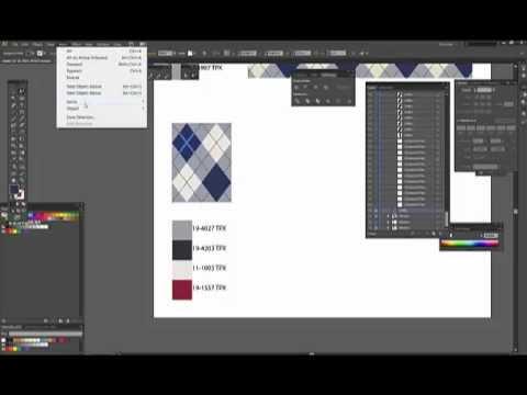 Adobe Illustrator CS6 - Make a simple argyle pattern