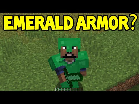 Minecraft Unlikely Features - EMERALD ARMOR ?